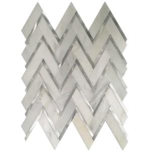 Aluminum Herringbone Mosaics