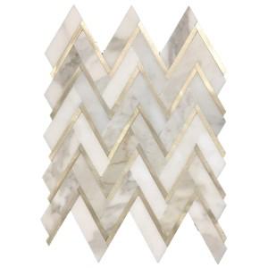 Aluminum Herringbone Mosaics Collection