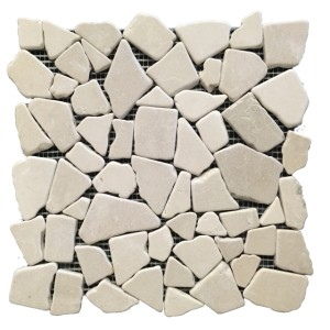 Crema Marfil Tumbled tile