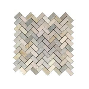 Golden Sand Herringbone tile