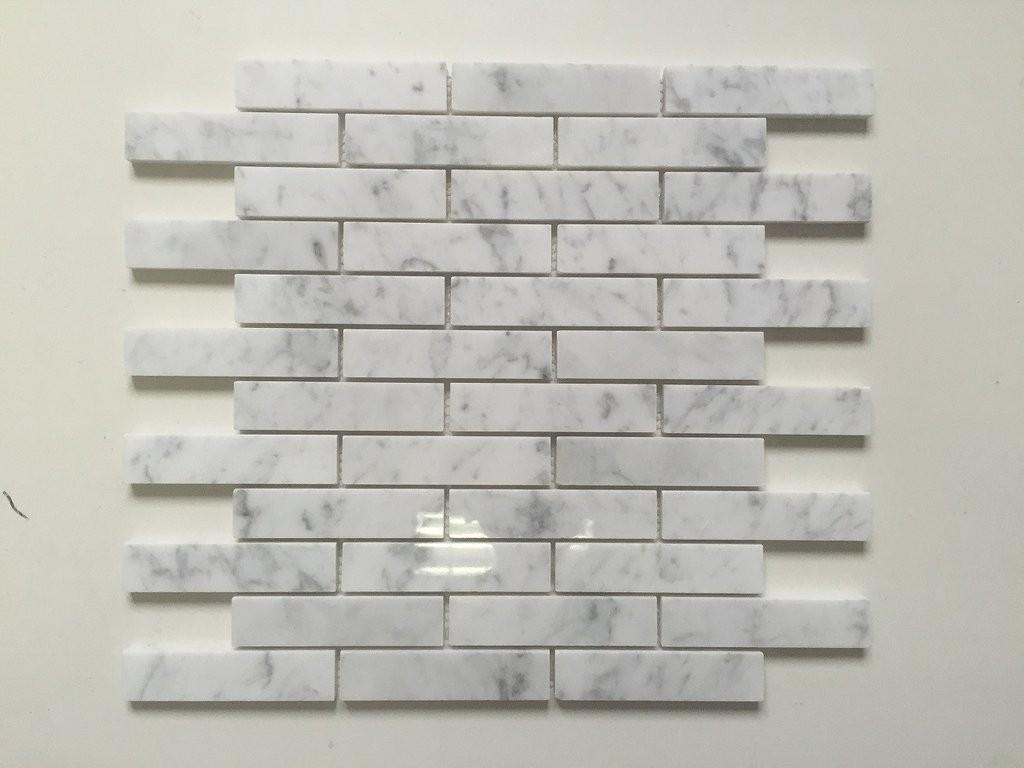 White Carrara Piano Brick