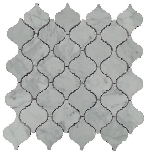 White Carrara Mini Arabesque