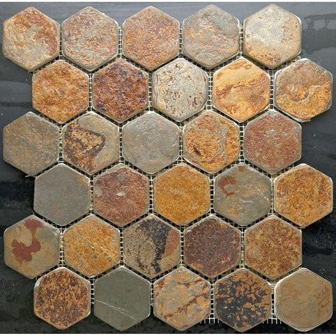 Rusty Slate Hexagon
