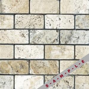 Picasso Tumbled Travertine stone, 2x4 Tumbled Picasso by Anatolia Tile