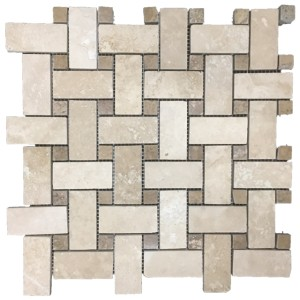Durango Basketweave Noce Dot tile