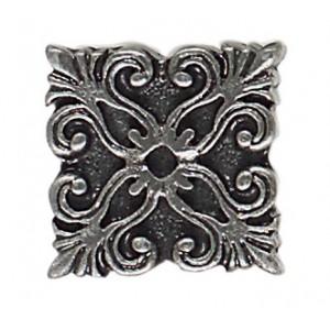 Massalia, Pewter 1 x 1 Frieze Button ceramic tile