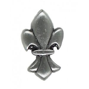 Massalia, Pewter 1 x 1 Fleur de Lis Button ceramic tile
