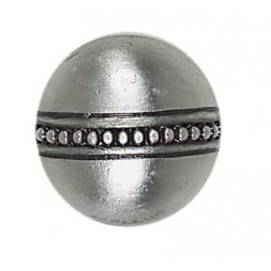 Massalia, Pewter 1 x 1 Bead Button ceramic tile