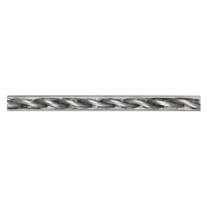 Massalia, Pewter 1/2 x 6 Twist Accent Strip ceramic tile