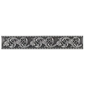 Massalia, Pewter 1 x 6 Frieze Accent Strip ceramic tile