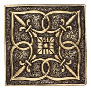 Massalia, Bullion 4 x 4 Fleur de Lis Accent ceramic tile