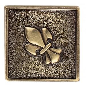 Massalia, Bullion 2 x 2 Fleur de Lis Accent ceramic tile