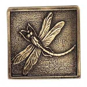 Massalia, Bullion 2 x 2 Dragon Fly Accent ceramic tile