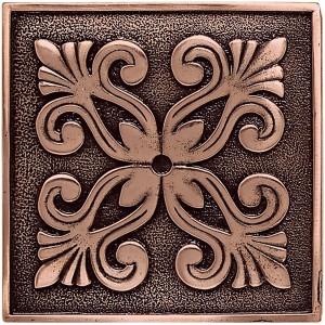 Massalia, Copper 4 x 4 Frieze* ceramic tile