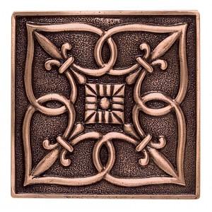 Massalia, Copper 4 x 4 Fleur de Lis Accent* ceramic tile