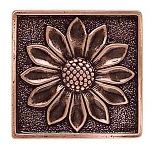Massalia, Copper 2 x 2 Floral Accent* ceramic tile