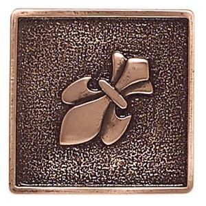 Massalia, Copper 2 x 2 Fleur de Lis Accent* ceramic tile