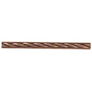 Massalia, Copper 1/2 x 6 Twist Accent Strip* ceramic tile