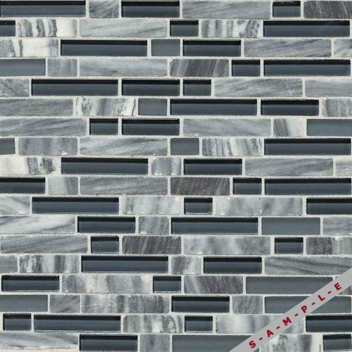 Glacier Gray Marble Random Mosaic Blend