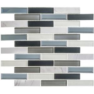 Beveled Castle Series, Azure Gardens glass tile