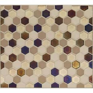Coastal Keystones Mosaic Tile Sunset Cove Hexagon Ck89 By Daltile