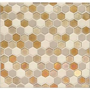 Coastal Keystones Mosaic Tile Island Harvest Hexagon Ck91 By Daltile