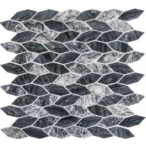 Colonial Series, Salem Charcoal glass tile
