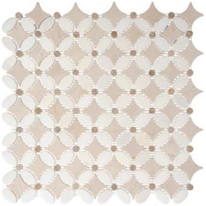 Flower Series, Thassos white slate tile