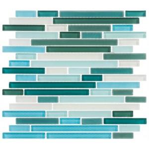 Random Brick Series, Florida Keys glass tile