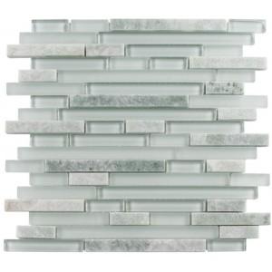 Random Brick Series, Frosted Dusk glass tile