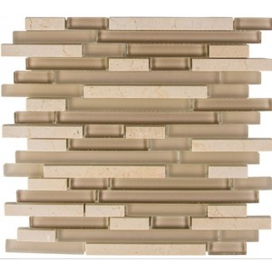 Random Brick Series, Driftwood glass tile