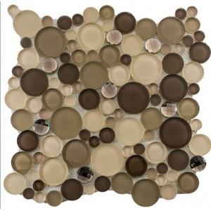 Symphony Bubble Series, Platinum Foam glass tile
