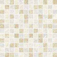 Ivory/Beige/Silver Mix Semi-Polished