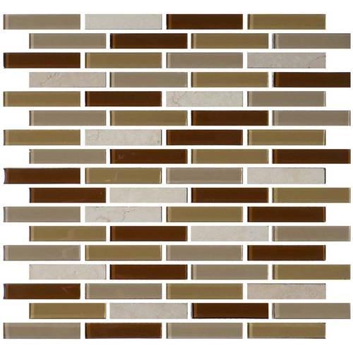 Caramelo 5/8 x 3 Brick-joint Mosaic BP95