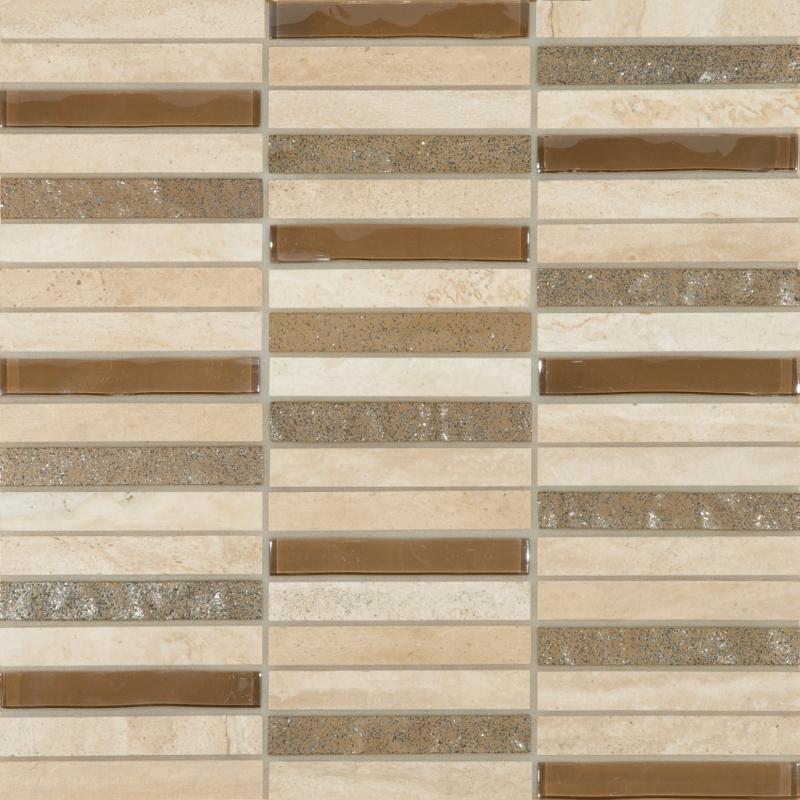 Beige Linear mosaic