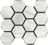 Bianco Hexagon Mosaic