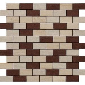 Kaleido tile, Avorio Brick Mix  Beige/Marrone/Muretto by Happy Floors