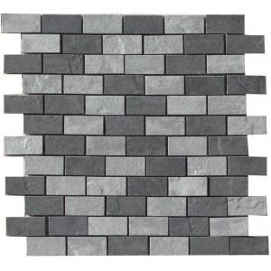 Eternity, Black/Grey Muretto mosaic tile