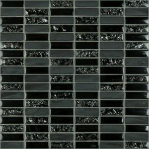 Crackle tile, Black by Happy Floors