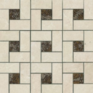 Beige Deco Pinwheel Mosaic
