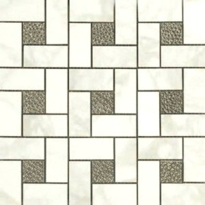White Deco Pinwheel Mosaic