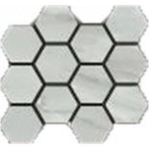 Bardiglio tile, Grigio Hexagon Mosaic by Happy Floors