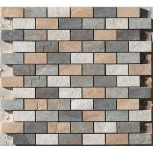 Eternity, Multicolor  Almond/Gold/Forest mureto mosaic tile