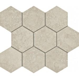 Marmi tile, Navona  Hexagon Mosaic by Happy Floors