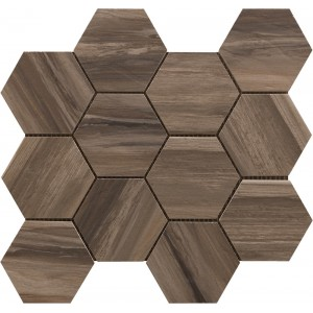 Brown Hexagon Mosaic