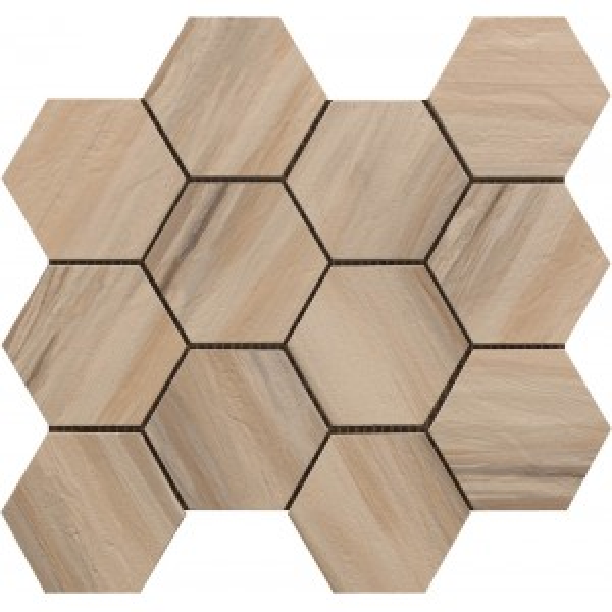 Beige Hexagon Mosaic