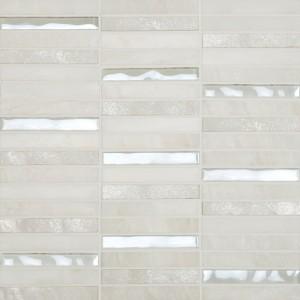 Cordoba tile, White Linear mosaic by Happy Floors