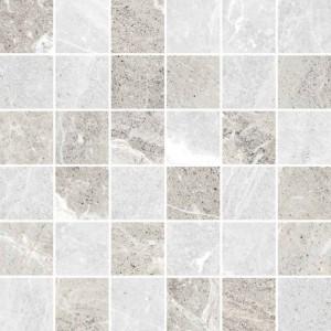 Flint tile, Ice 2x 2 Mosaic by Happy Floors