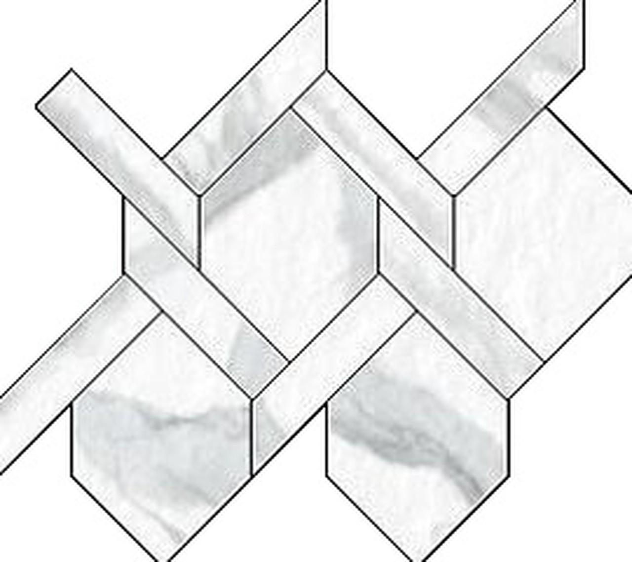 Statuario Intreccio Mosaic