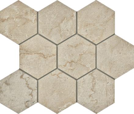 Botticino Hexagon Mosaic